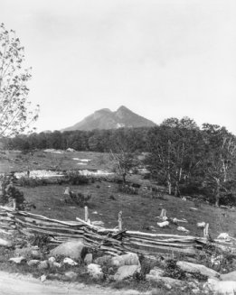 Grandfather Mountain as seen from the Yonahlossee Road between Linville and Blowing Rock, 1919. North Carolina Collection, University of North Carolina at Chapel Hill Library.