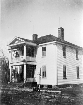 Harper House, residence, Bentonville, NC. Used as Confederate Hospital. From the Barden Collection, North Carolina State Archives, N_53_15_1636,  Raleigh, NC.