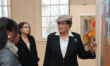 Dr. Alma Adams and students, Bennett College