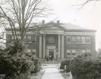 Historic photo of Johnson C. Smith University's George E. Davis Science Hall
