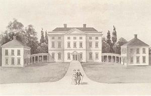 """Illustration of Tryon Palace--1770"" from Powell, Emma H. New Bern, North Carolina Founded by De Graffenried in 1710: Colonial New Bern, New Bern of To Day, 1905."