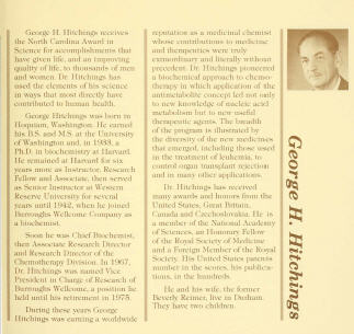 George Hitchings' 1980 NC Awards profile.
