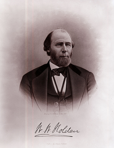 """William Woods Holden (November 24, 1818 – March 1, 1892)."" Photo courtesy of the North Carolina State Archives, call # N-74-4-410."