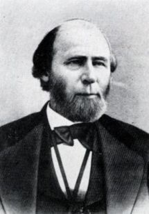 Portrait of William Woods Holden, governor of North Carolina in 1865 and from 1868 to 1871.
