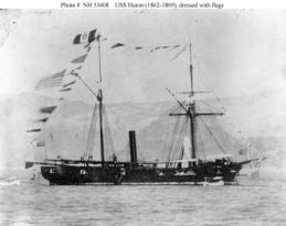 USS Huron (1862-1869). Courtesy of Naval Historical Center, photo # NH 53408.