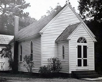 Photograph of Trinity Church in Chocowinity, 1954. Image from the North Carolina Museum of History.
