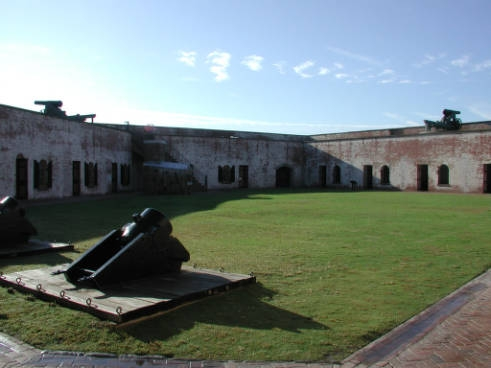 Photograph of Fort Macon, October 23, 2002. From the NC ECHO Project. North Carolina Digital Collections.