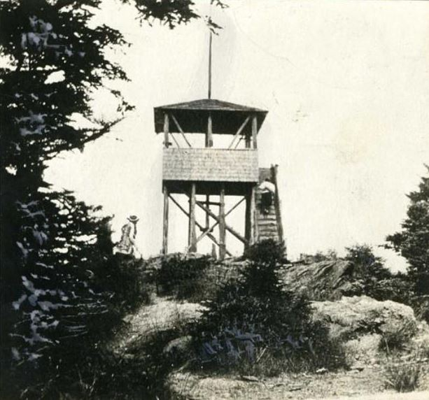 Photograph of the observatory/fire tower on Mt. Mitchell, ca. 1915-1930. Item H.19XX.305.8, from the collection of the North Carolina Museum of History. Used courtesy of the North Carolina Department of Natural and Cultural Resources.