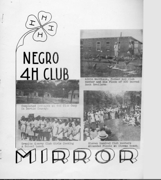 Negro 4H Club Mirror, publication ca. 1939. Item gng00211, Green 'N' Growing Project, Special Collections Research Center, NCSU Libraries': Rare & Unique Digital Collections.