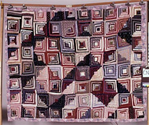 Log Cabin pattern quilt, made by Patience White, ca. 1907, Alamance County, N.C.  From the collections of the North Carolina Museum of History, used courtesy of the North Carolina Department of Cultural Resources.
