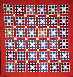 Grandmother's pride pattern quilt, made ca. 1901 by a group of young girls from Swansboro, Onslow County, N.C. From the collections of the North Carolina Museum of History, used courtesy of the North Carolina Department of Cultural Resources.