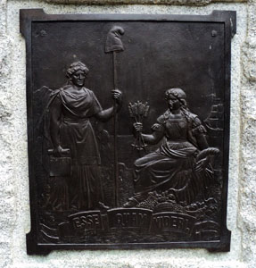 "The North Carolina State Motto, ""Esse Quam Videri"", appearing on the plaque of the Joseph Winston Monument, Guilford Courthouse, Greensboro, N.C. Image by Marmaduke Percy, Wikimedia Commons, License CC BY-SA 3.0."