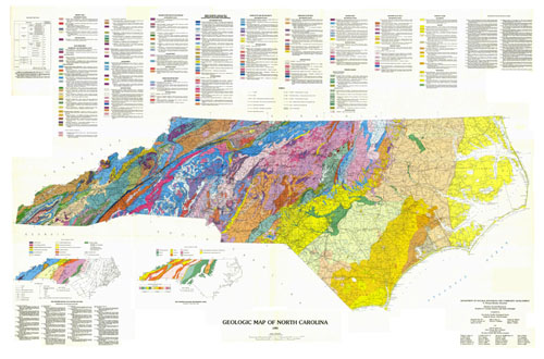 Link to 1985 Geologic Map of North Carolina.  From North Carolina Department of Environment and Natural Resources.