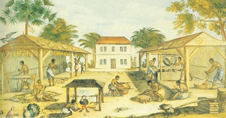 Slaves working in 17th-century Virginia