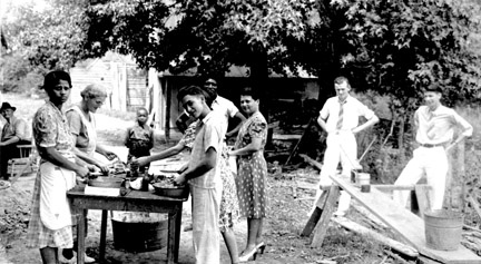 Family Barbeque 1930s