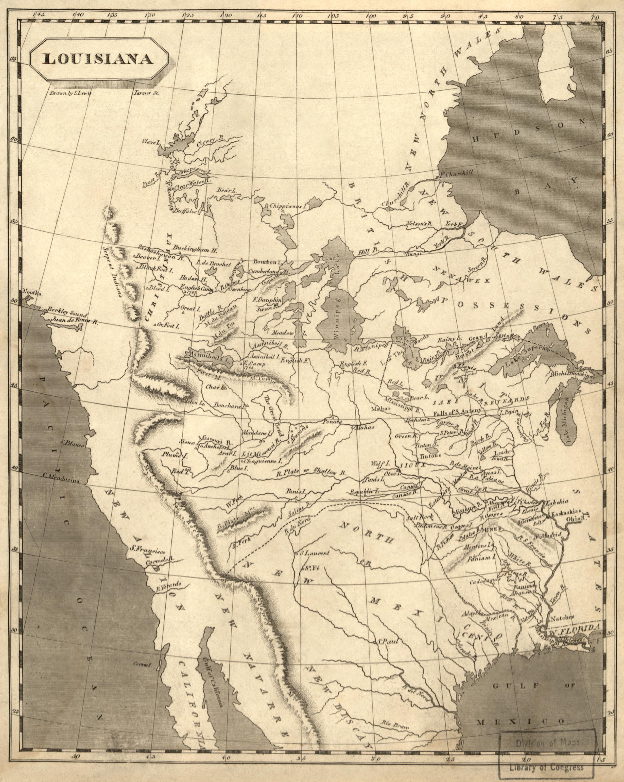 Map of Louisiana, 1804
