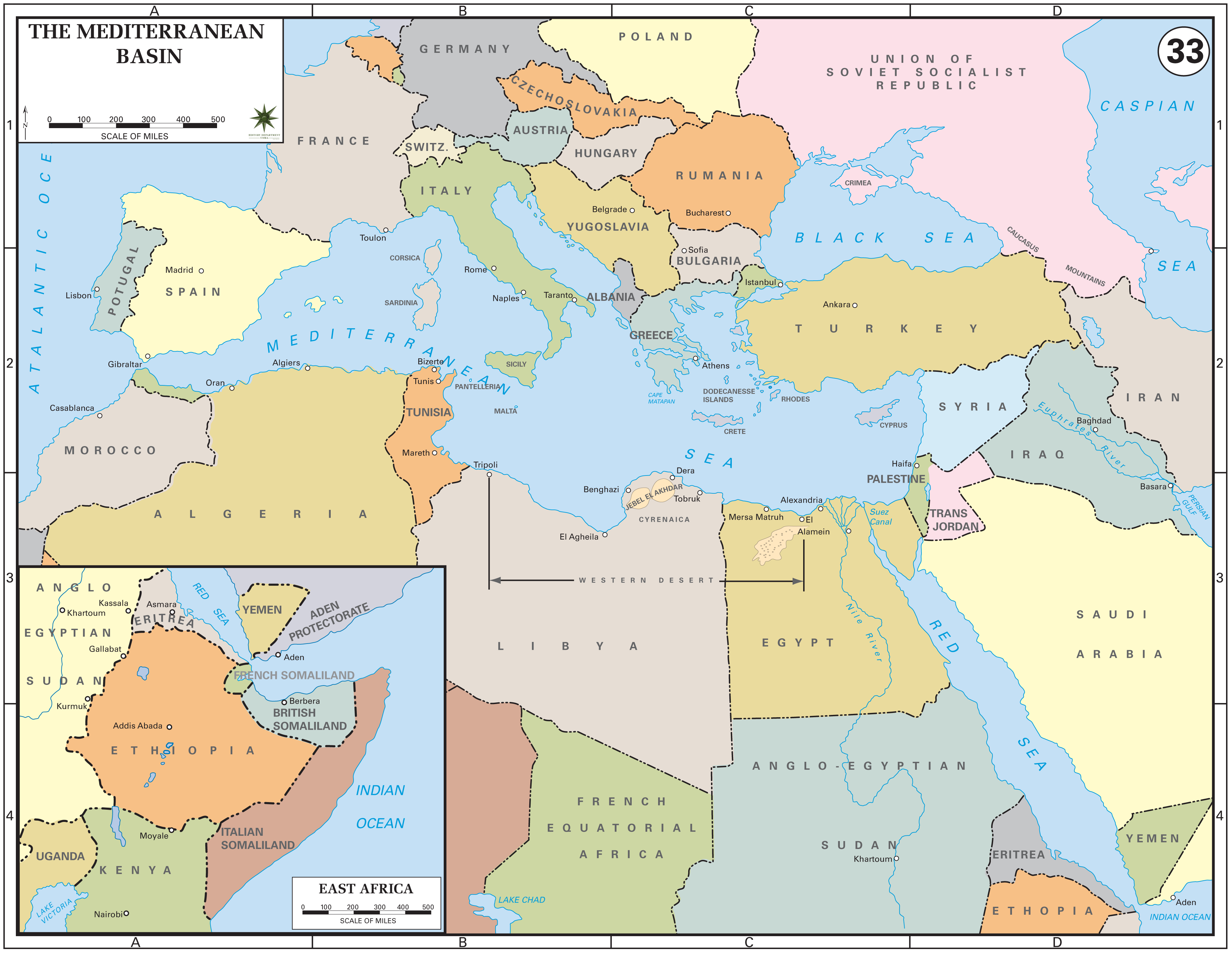 The Mediterranean Basin, 1939