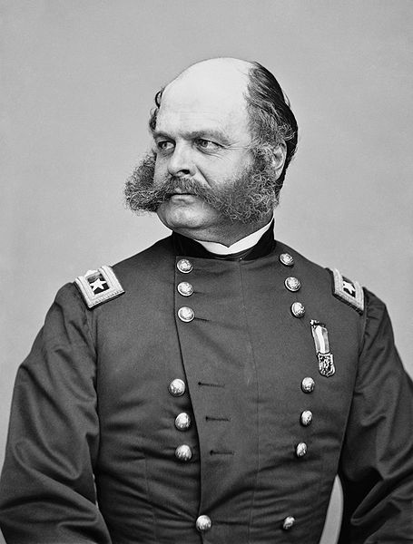 "Union General Ambrose Burnside. His impressive facial hair was named ""sideburns"" by reversing his last name."