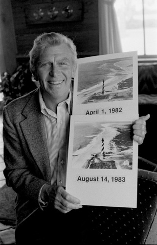 Andy Griffith and Cape Hatteras Lighthouse photos