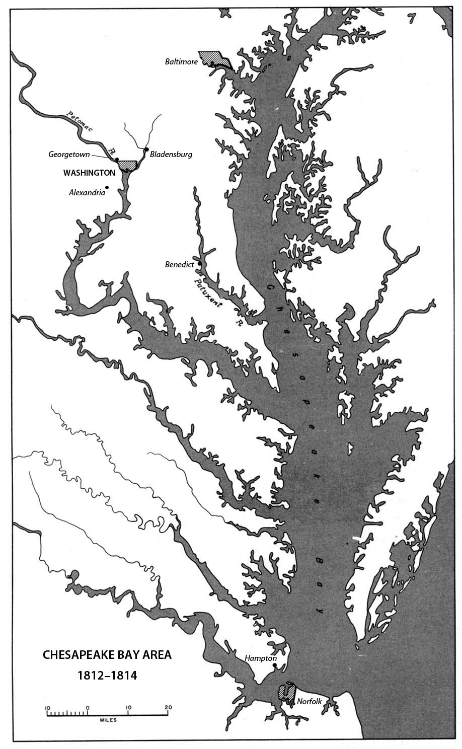 Chesapeake Bay area, 1812-1814
