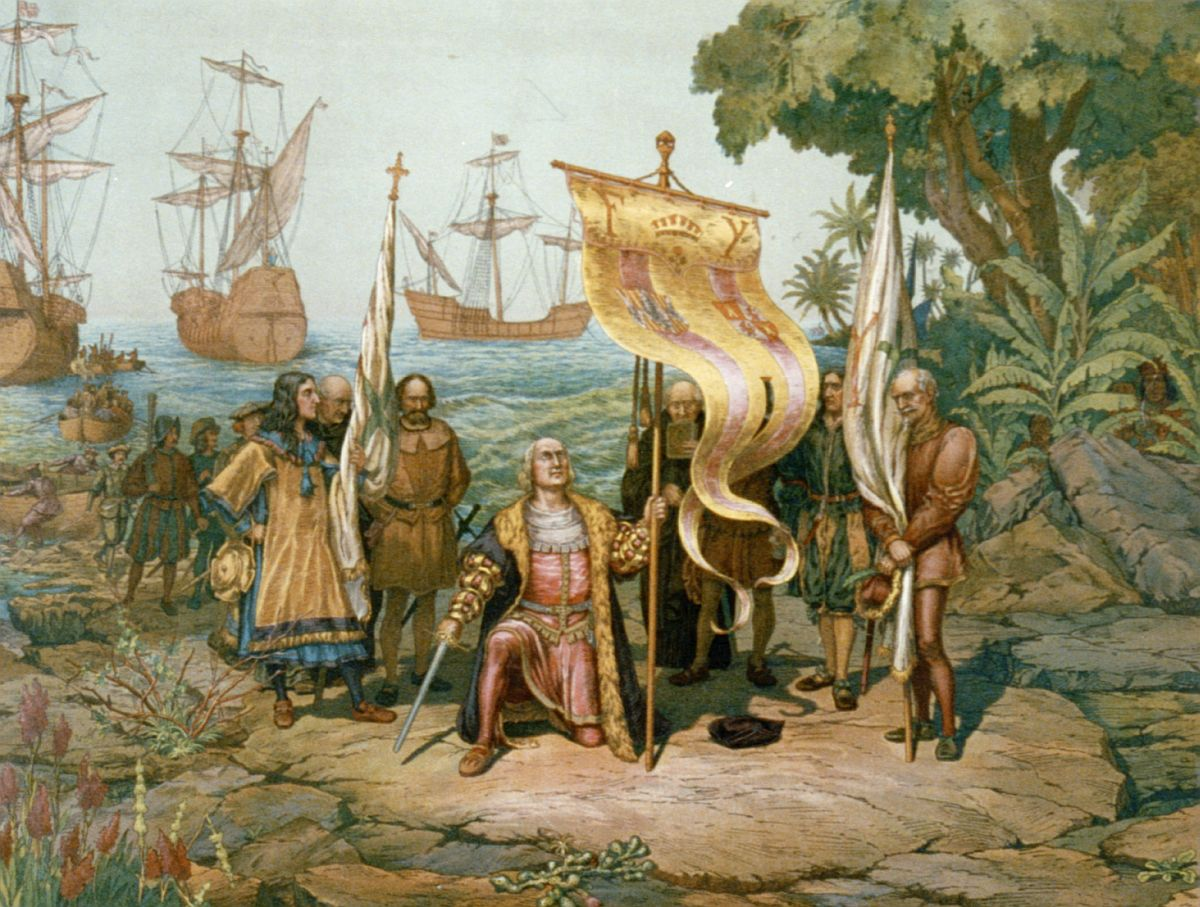 Columbus' arrival in the New World.