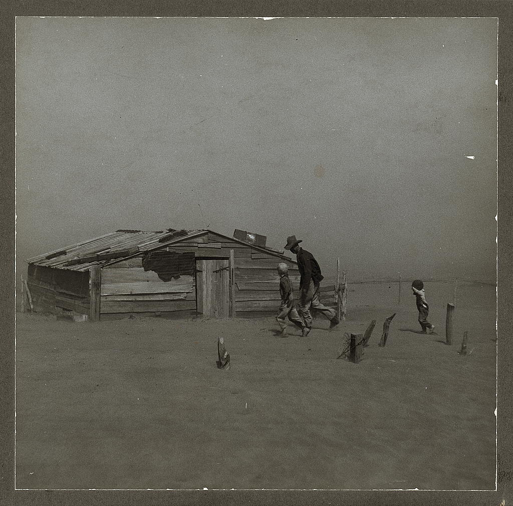 Dust storm in Cimarron County, Oklahoma in 1936