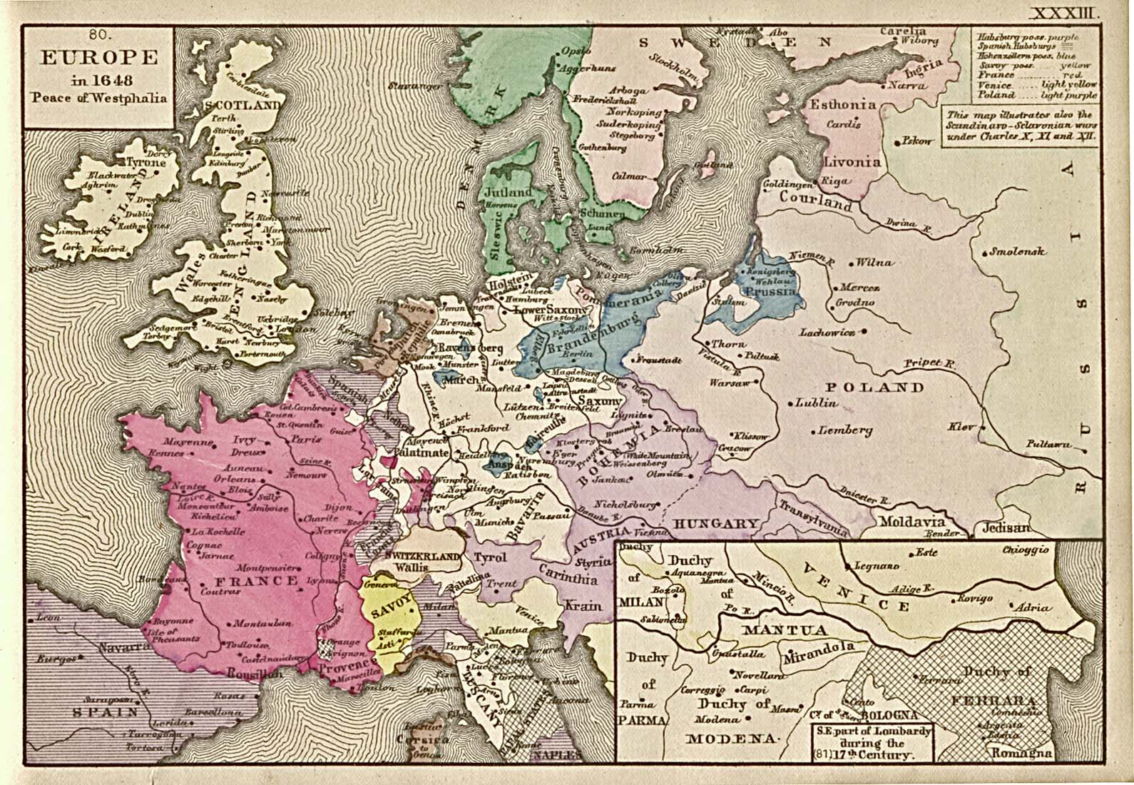 Europe after the Peace of Westphalia (1648)