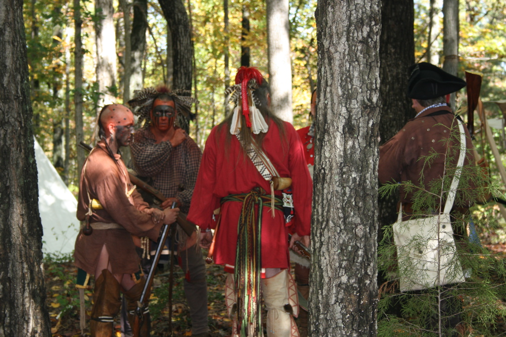 a re-enactment at Fort Dobbs
