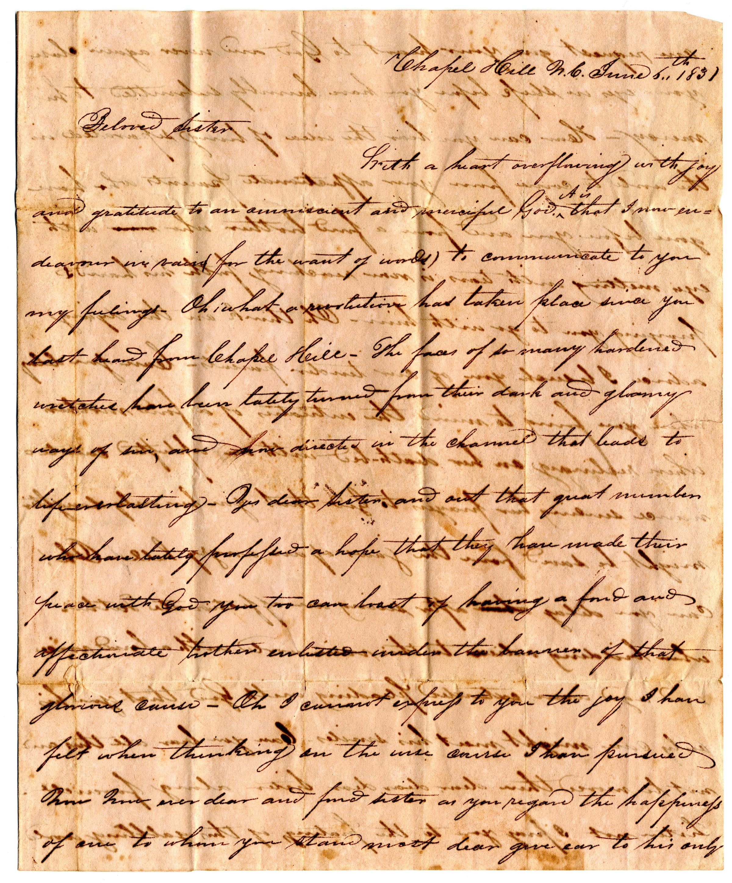 Thomas Harriss' letter
