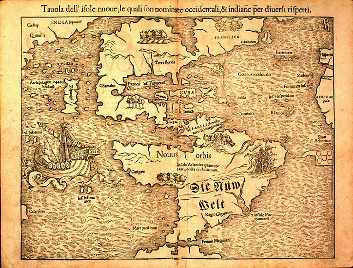 Map of the New World, 1540