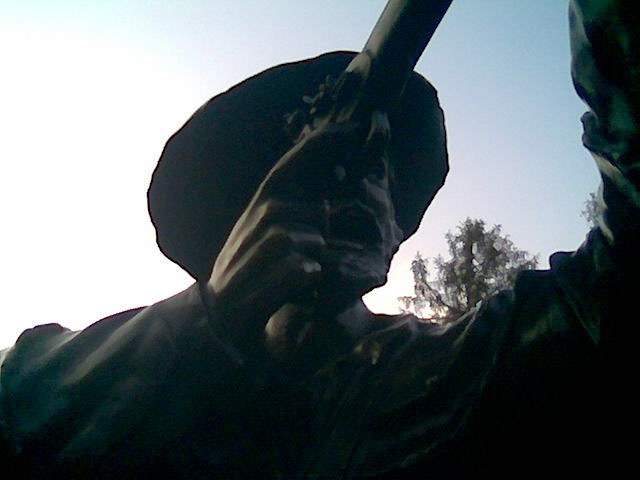 This statue of a militiaman at Shoals State Park