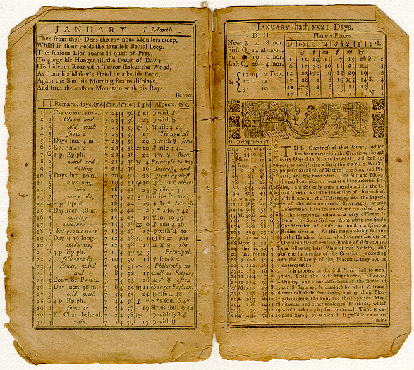 Poor Richard's Almanack, January 1753