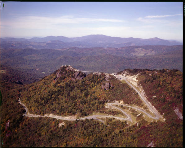 Road to the summit of Grandfather Mountain.