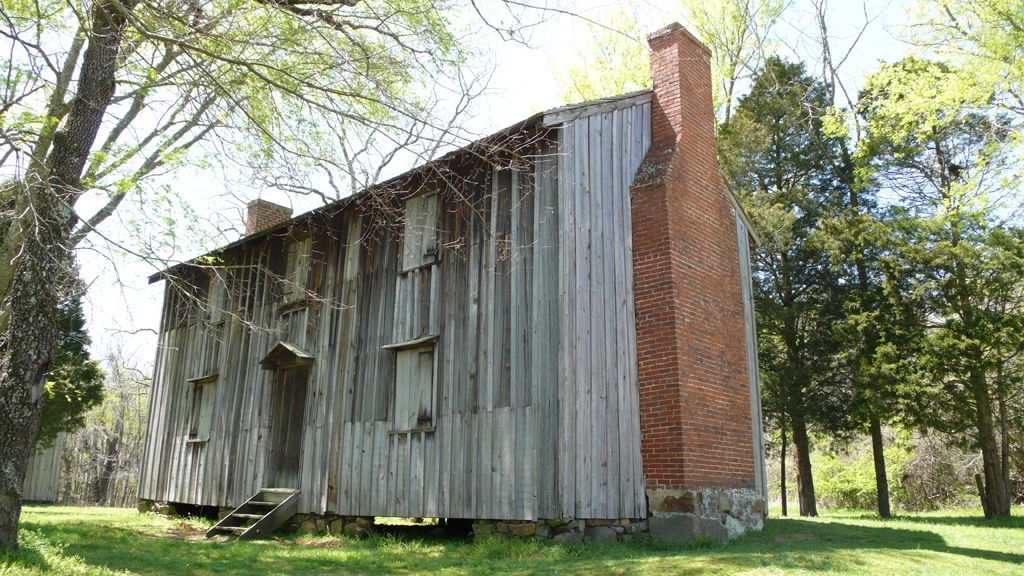 Exterior of slave house, Stagville Plantation