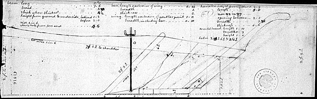 Thomas Jefferson's design for a plow