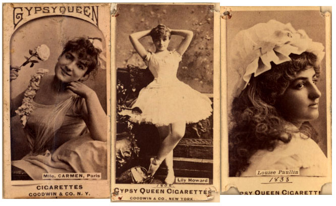Gypsy Queen Cigarettes -- trading cards
