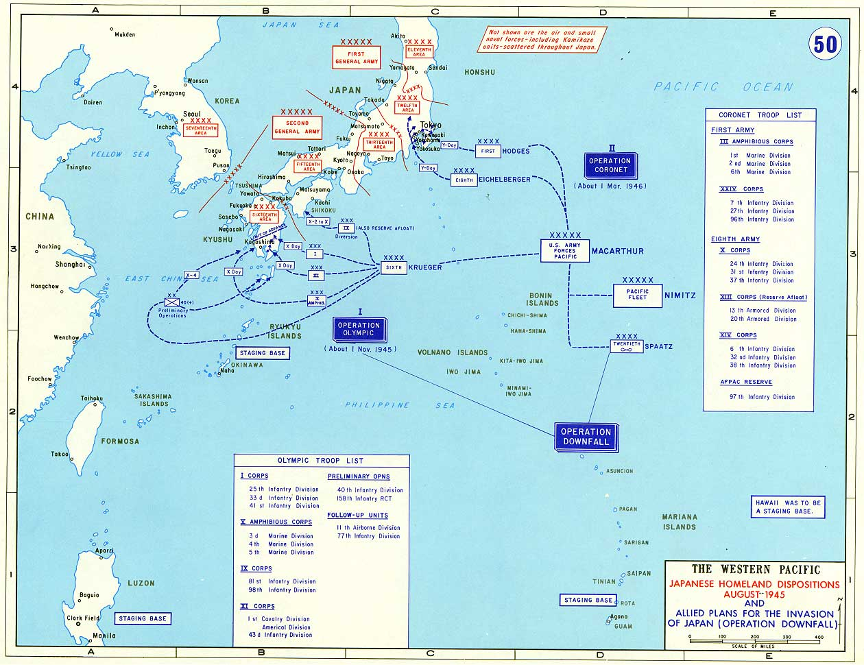 Allied Plans for the Invasion of Japan, August 1945