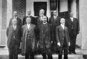 Members of the Board of Directors of the AME Zion Publishing House, Charlotte, 1916. Carolina Room, Public Library of Charlotte and Mecklenburg County.