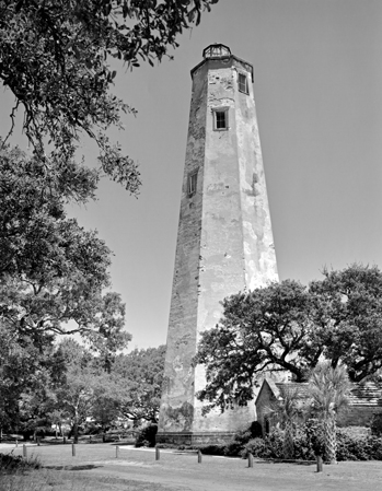 The lighthouse on Bald Head Island, late 1980s. Photograph by Tim Buchman. Courtesy of Preservation North Carolina.