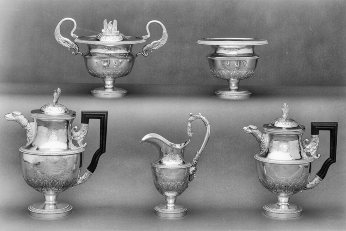 The Blakeley tea and coffee service. Photograph courtesy of the North Carolina Museum of Art, Raleigh. Gift of Mr. and Mrs. Charles Lee Smith Jr., in honor of Dr. Robert Lee Humber.