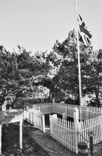The British Cemetery of Ocracoke. Photograph courtesy of North Carolina Division of Tourism, Film, and Sports Development.