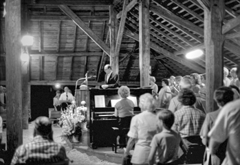 Camp meeting at Pleasant Grove Campground near Mineral Springs, 1983. Courtesy of North Carolina Office of Archives and History, Raleigh.