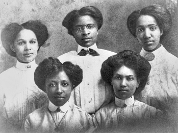 Early faculty members at Palmer Memorial Institute. Charlotte Hawkins Brown is in the center on the back row. Courtesy of North Carolina Office of Archives and History, call # N_83_12_10, Raleigh.