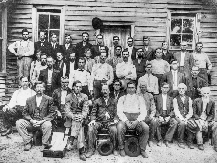 Members of the Farmers Union photographed at Erwin Chapel near Erwin in Harnett County, ca. 1905. North Carolina Collection, University of North Carolina at Chapel Hill Library.