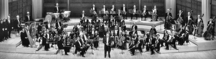The North Carolina Symphony, with Gerhardt Zimmermann, music director and conductor from 1982 to 2003. Photograph by Michael Zirkle. Courtesy of the North Carolina Symphony.