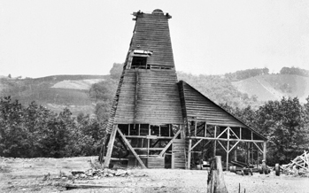 Shaft at the Ore Knob Copper Mine in Ashe County (date unknown). Courtesy of North Carolina Office of Archives and History, Raleigh.