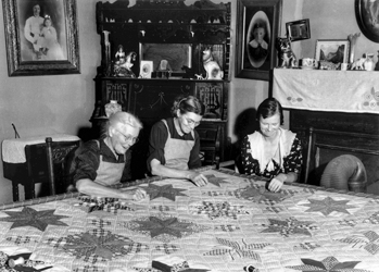 Northampton County quilters, 1939. Photograph by Charles Anderson Farrell. North Carolina Collection, University of North Carolina at Chapel Hill Library.