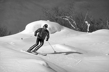 Skiing on Sugar Mountain near Banner Elk. Photograph courtesy of North Carolina Division of Tourism, Film, and Sports Development.