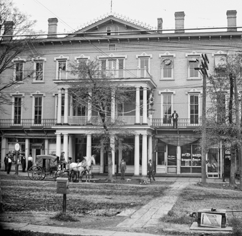 Stagecoach in front of the Hotel Iredell in Statesville, ca. 1900. North Carolina Collection, University of North Carolina at Chapel Hill Library. Photograph by William Jasper Simpson.