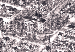 detail of 1872 Raleigh map